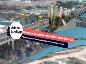 Bitmeyen Köprünün heykelleri depodan çıktı