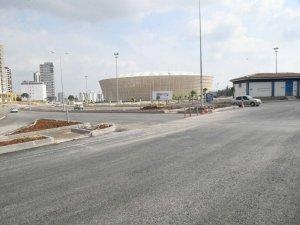 Yeni stadyumun çevresine bisiklet yolu yapılıyor