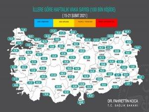Normalleşme haritası Adana'nın rengi belli oldu