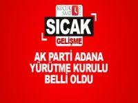 AK Parti Adana Yürütme Kurulu belli oldu