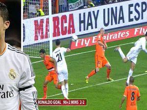 Cristiano Ronaldo'nun Valencia'ya Attığı Topuk Golü