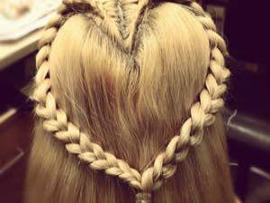 Uzun Saçlar İçin Kalp şeklinde Saç Modeli izle